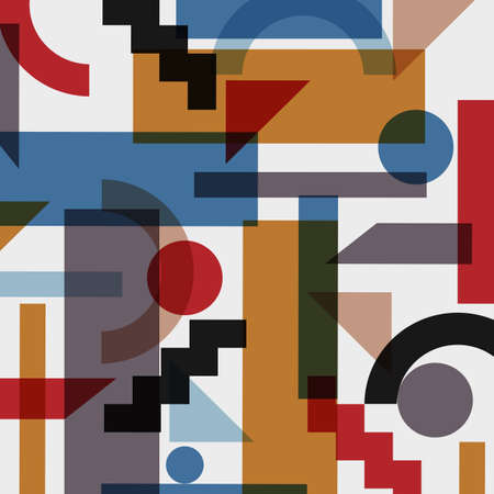 cubism: Geometric abstract background in cubism style. Vector EPS 10