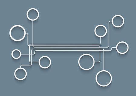 Web design bubbles with shadows. Vector design template Vector