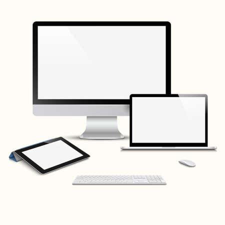 Modern Digital devices.  Vector