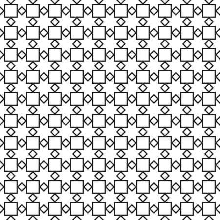 arabic motif: Monochrome geometric seamless pattern. Illustration