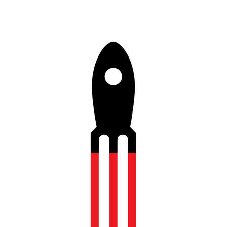 engine flame: Simple rocket icon.Vector EPS10