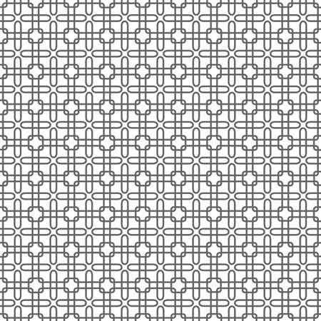 modular rhythm: Geometric monochrome seamless pattern.