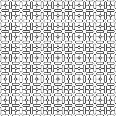 modular rhythm: Delicate monochrome seamless pattern - variation 3.