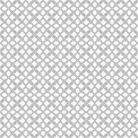 arabic motif: Monochrome seamless pattern in oriental style - variation 2. Illustration