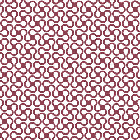 optical image: Curved geometric simple seamless pattern. Vector background Illustration