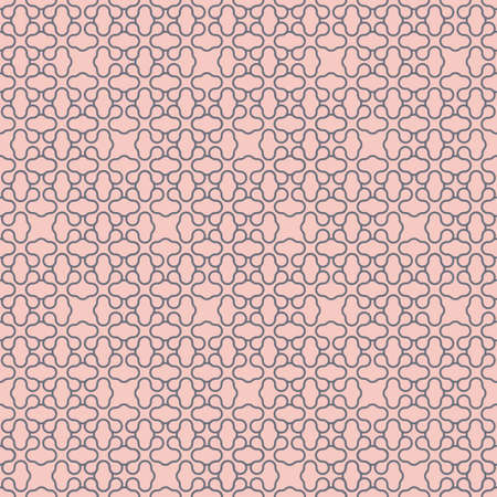 distorted image: Pale geometric simple seamless pattern. Vector background