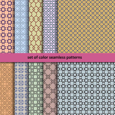 retro patterns: Set of ten geometric retro seamless patterns. Vector EPS10