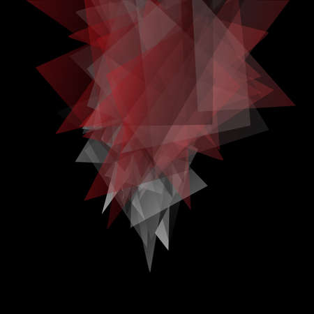 dark: Abstract triangles dark background. Vector