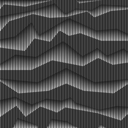 Abstract monochrome striped background. Vector background Illustration