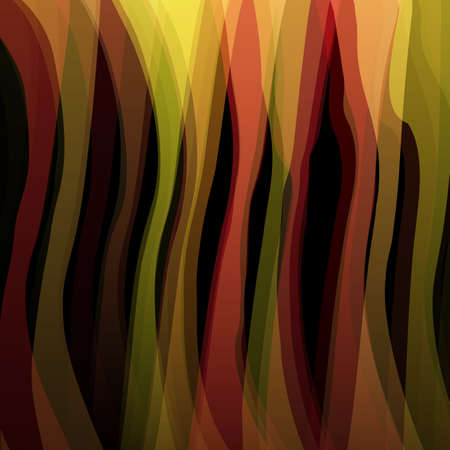 black yellow: Abstract background with vertical warm stripes on black for design .Vector