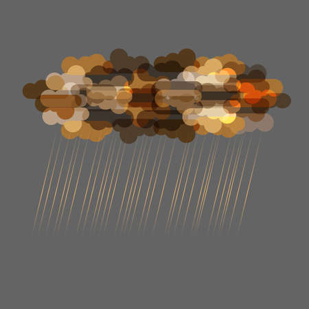 cloudburst: Dark transparent clouds with rain.