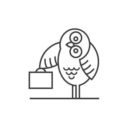 barrister: Owl emblem -symbol for business