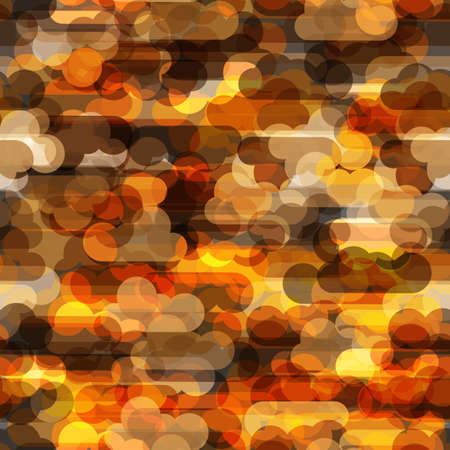 warm colors: Seamless pattern with transparent clouds in warm colors.
