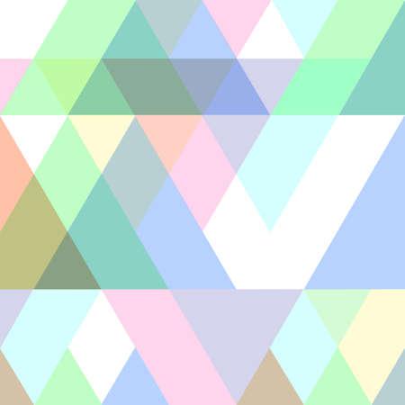 Modèle géométrique transparent en couleurs pastel.