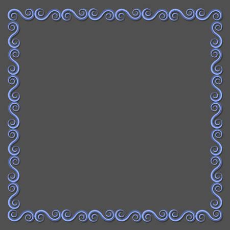 design frame: Simple paper frame with swirls for design. Vector eps10 Illustration
