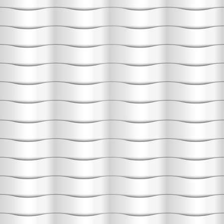 abstract waves: Paper white seamless wavy pattern of abstract waves