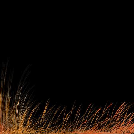 pasturage: Stylized autumn grass.