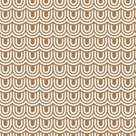 flaked: Beige striped flaked seamless pattern. Vector background