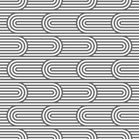 ripply: Curved striped seamless pattern. Vector background