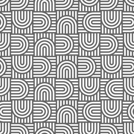 monochrome: Monochrome geometric  striped seamless pattern. Vector background