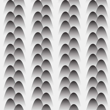 grey: Grey seamless pattern with stylized eggs. Illustration