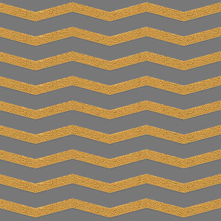 zag: Golden zig zag grey seamless pattern.