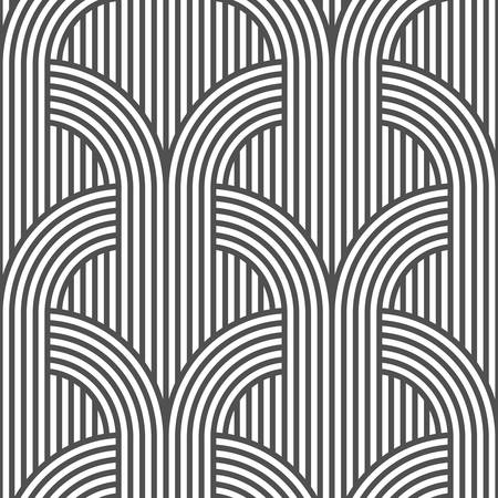 variation: Black and white geometric striped seamless pattern - variation 5. Illustration