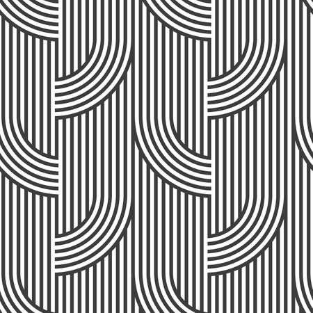 pattern geometric: Black and white geometric striped seamless pattern - variation3.
