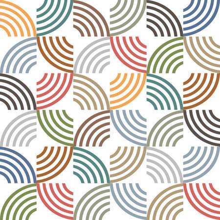 De colores retro sin fisuras patrón de rayas geométrica.
