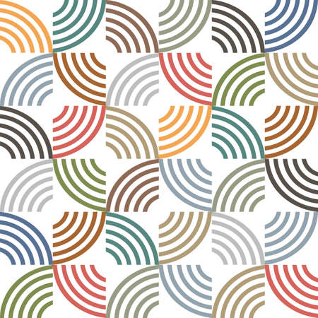 retro pattern: Retro colored geometric striped seamless pattern.