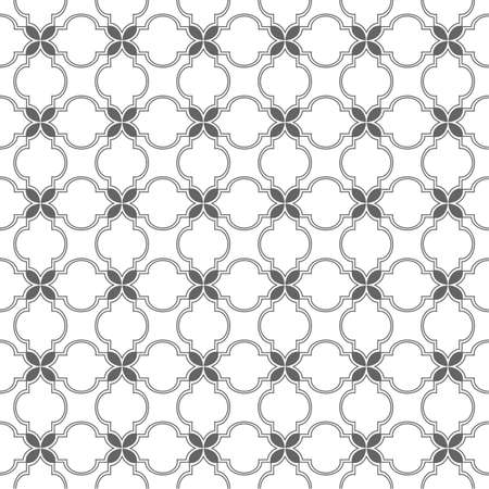 arabian: Monochrome seamless pattern arabian style. Illustration