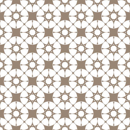 biege: Abstract beige seamless pattern with stylized stars. Vector background