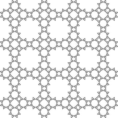 delicate: Delicate seamless monochrome ethnic pattern. Abstract seamless ornament. Vector background Illustration