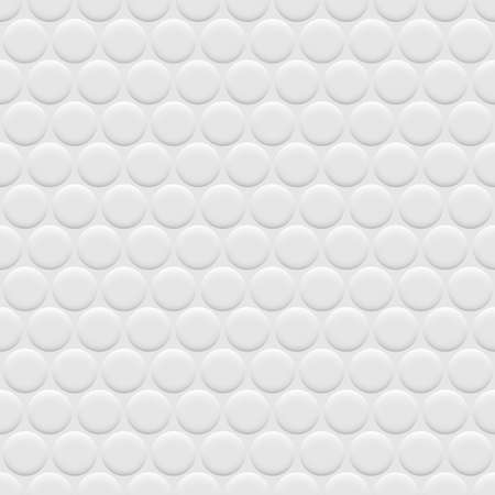circles pattern: 3d white background seamless pattern with circles. Vector wallpaper