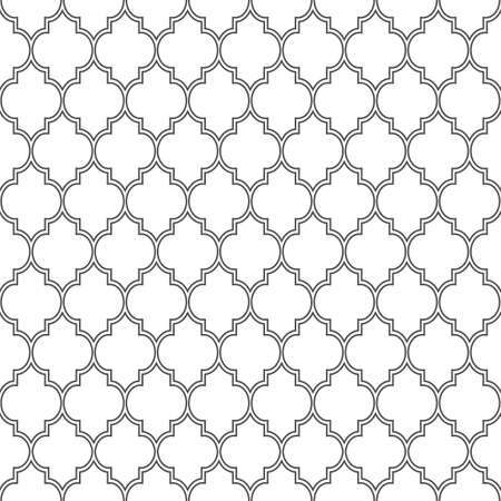 monochromatic: Delicate seamless pattern in islamic style. Vector background Illustration