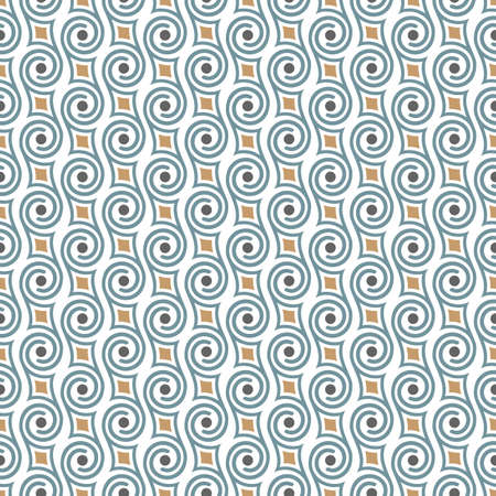 seamless: Seamless retro pattern with swirls. Abstract seamless ornament. Vector background