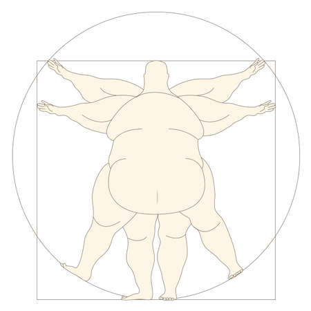 vinci: Conceptual modern icon Vetruvian man basis of artwork by Leonardo da Vinci. Vector EPS10