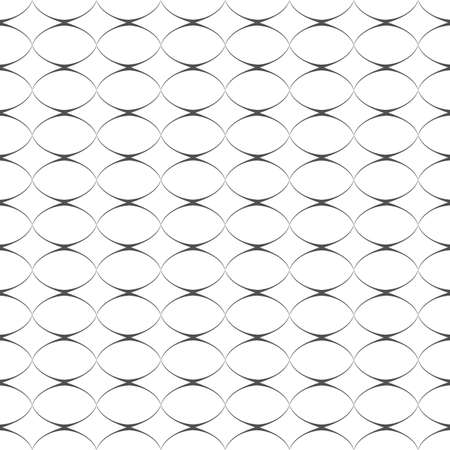 delicate: Geometric delicate simple seamless pattern with ovals. Vector background Illustration