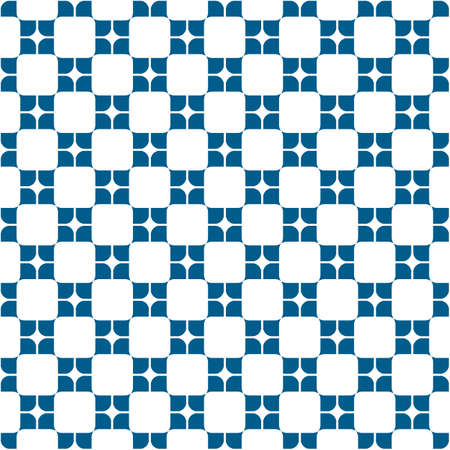 pattern of geometric shapes: Geometric seamless pattern with rounded square shapes. Vector background