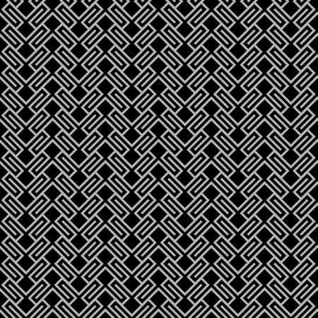 wattled: Dark geometric wattled seamless pattern. Vector background Illustration