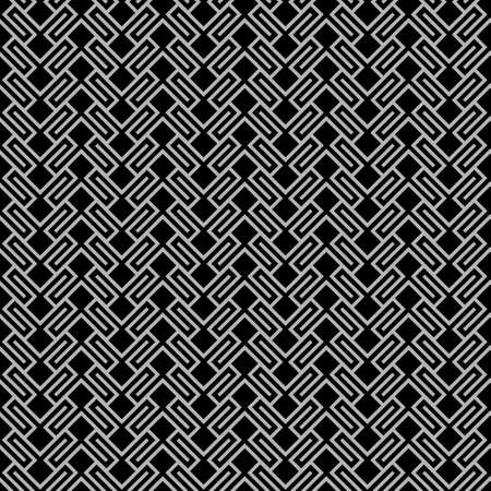 Dark geometric wattled seamless pattern. Vector background Illustration