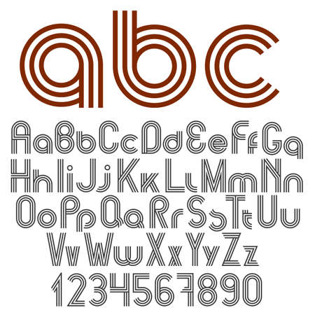 punctuation marks: Alphabet letters, numbers and punctuation marks. Vector set