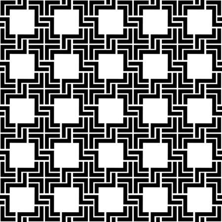 Black and white checkered geometric seamless pattern. Vector background Illustration