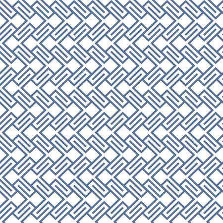 wattled: Geometric wattled seamless pattern. Vector background