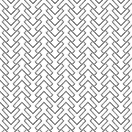 Grey geometric intricate seamless pattern. Vector background Illustration