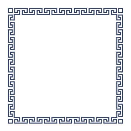 Square decorative Greek frame for design. Vektoros illusztráció