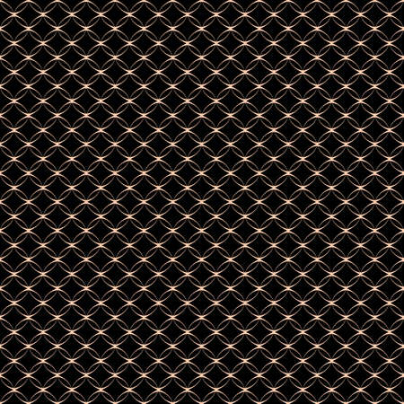 net: Lace seamless pattern with circles on black. Vector background