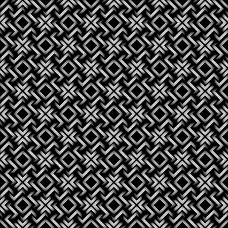 Celtic style - 3d geometric seamless pattern.Vector Background