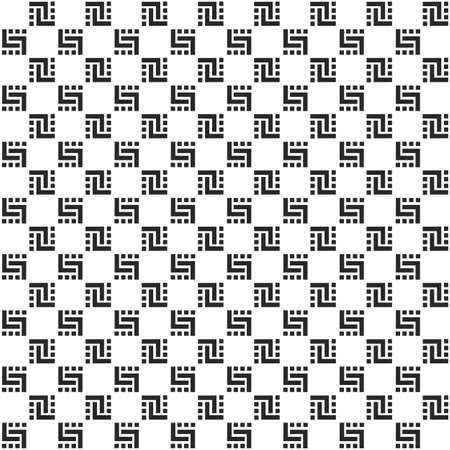 simple: Checkered monochrome seamless pattern. Vector background