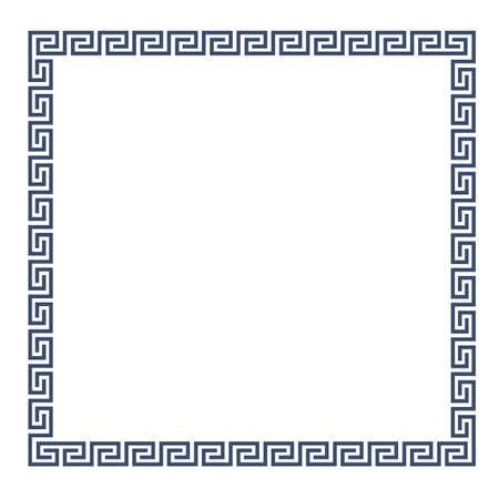 for design: Decorative Greek frame for design. Illustration
